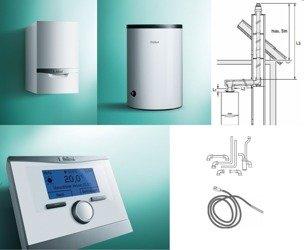 PAKIET Kocioł ecoTEC plus VC 256/5-5 + zasobnik VIH R 150 + regulator multiMATIC 700 przewodowy + zestaw kominowy (wyprowadzenie w szacht) + zestaw przyłączeniowy zasobnika