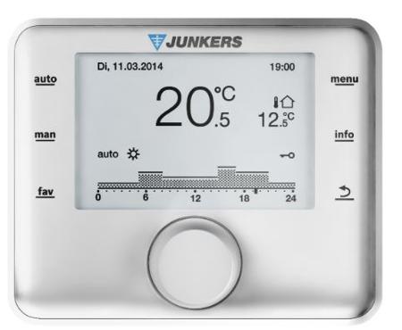 JUNKERS Pakiet Cerapur Acu ZWSB 24/28-3E Kocioł + CW 400 Regulator + AZB 616/1 system powietrzno-spalinowy