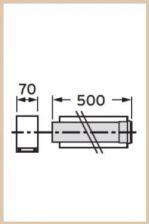 VAILLANT - Rura przedłużająca koncentryczna  80/125 0,5 m PP
